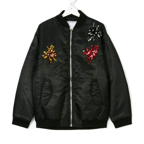 Gaelle Paris - BOMBER GIRL NERO CON STRASS