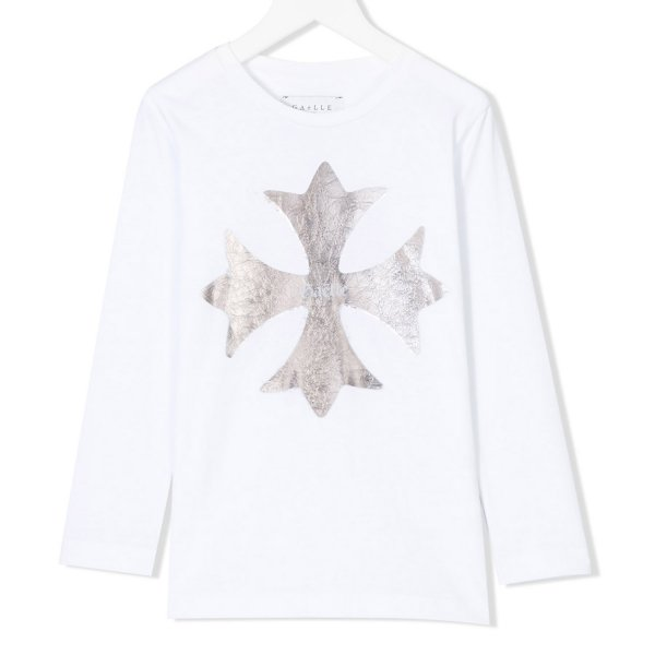 Gaelle Paris - T-SHIRT GIRL BIANCO ORO