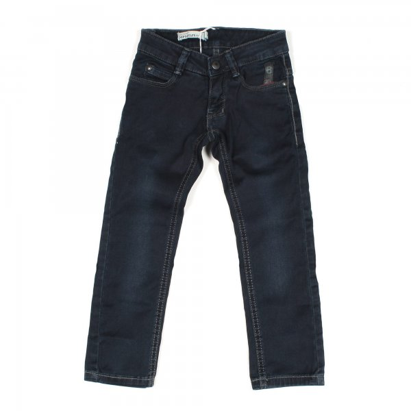 Imps & Elfs - JEANS IN DENIM STONE WASHED BLU SCURO