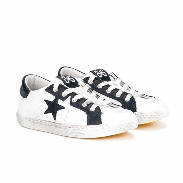 2Star - Sneaker Low Bianca e Blu Teen