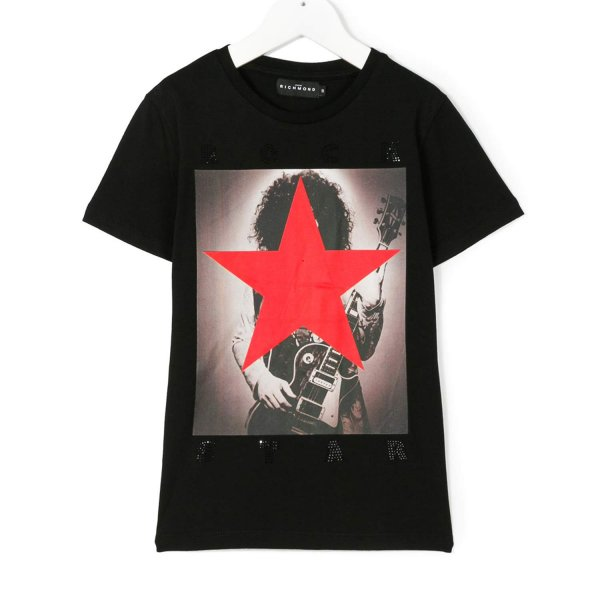 John Richmond - T-SHIRT SLASH NERA BOY