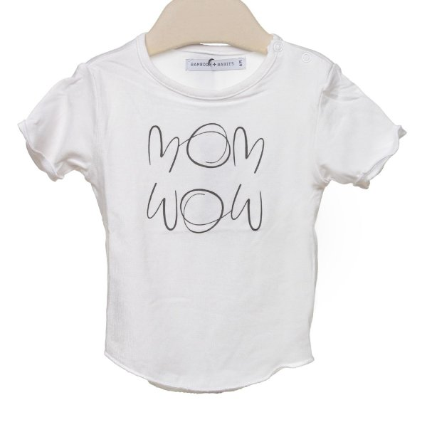 Bamboom - T-SHIRT BEBè BIANCA MOM