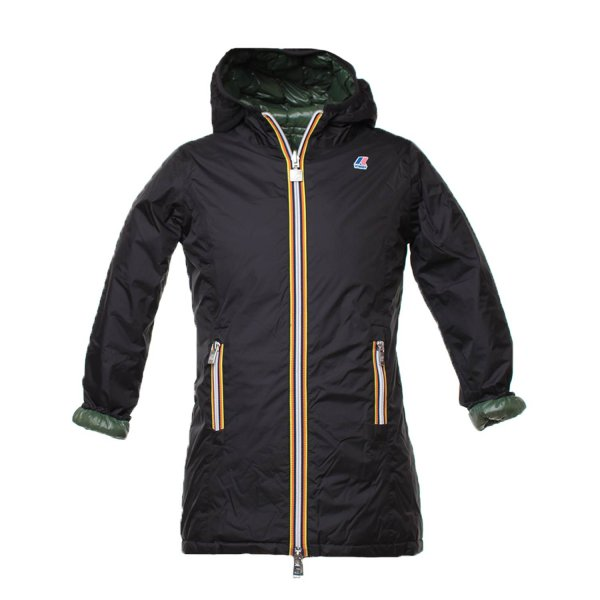 K-Way - Parka Girl Double Blu e Verde