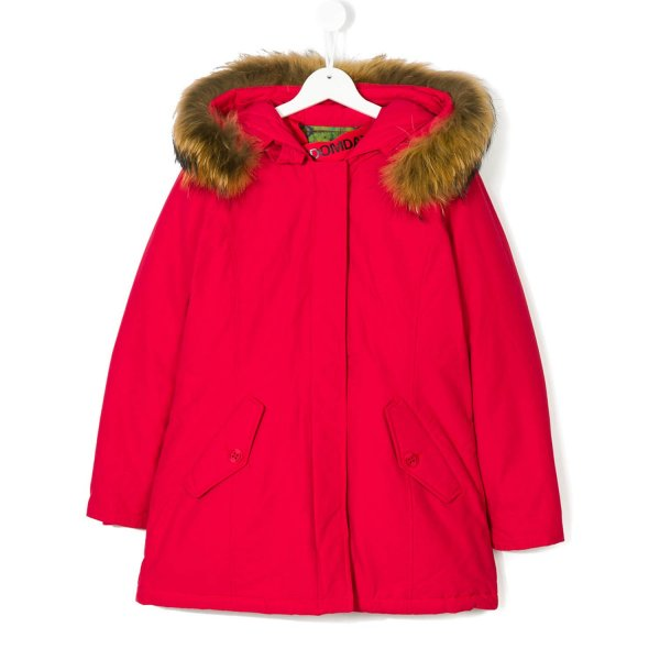 Freedomday - Parka Rosso Brillante Girl