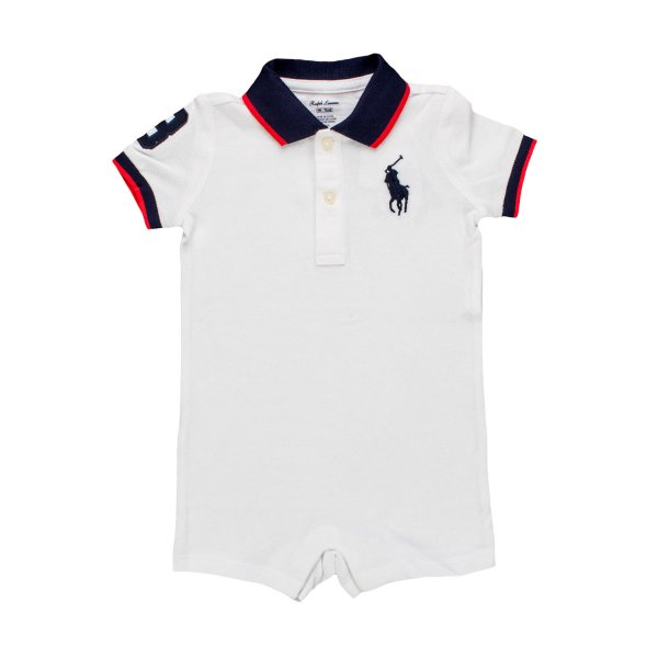Ralph Lauren - TUTINA POLO BIANCA RL INFANT