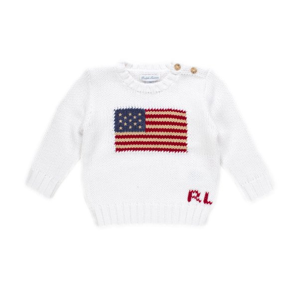 Ralph Lauren - PULLOVER USA RL INFANT BIANCO