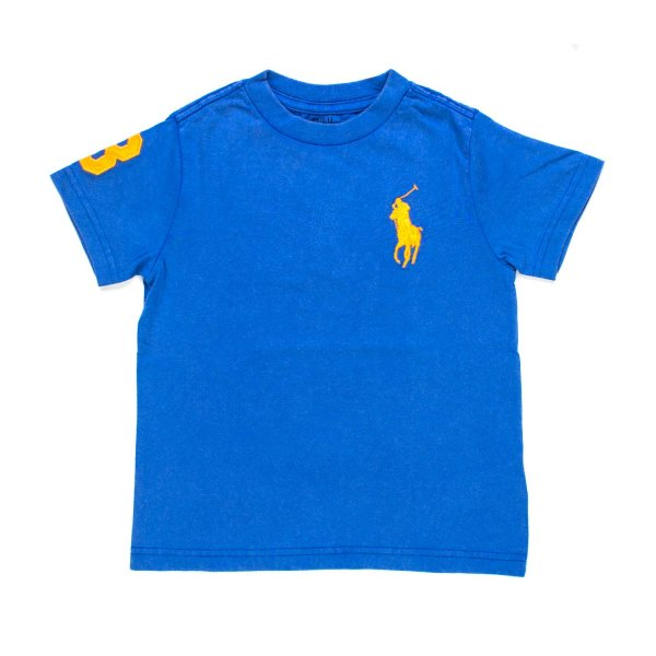 Ralph Lauren - T-SHIRT BIG PONY AZZURRA RL BOY