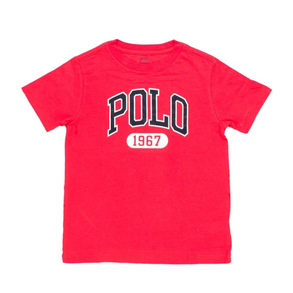 Ralph Lauren - T-SHIRT POLO ROSSA RL BOY