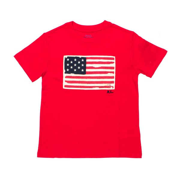 Ralph Lauren - T-SHIRT USA ROSSA RL BOY