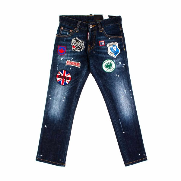 Dsquared2 - JEANS CON PATCH JR E TEEN