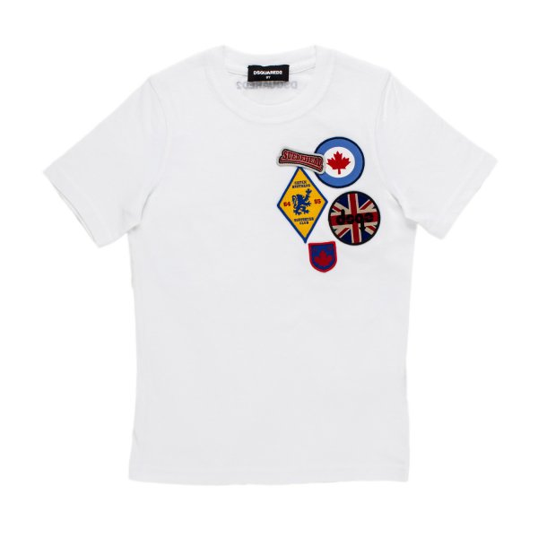 Dsquared2 - T-SHIRT PATCH BIANCA JR TEEN