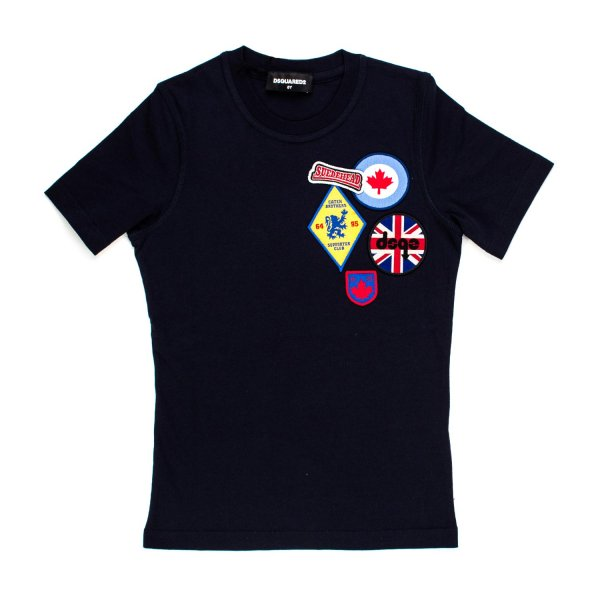 Dsquared2 - T-SHIRT PATCH BLU JR E TEEN