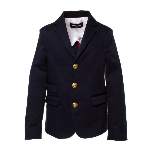 Dsquared2 - BLAZER BOY BLU NAVY BOTTONI ORO