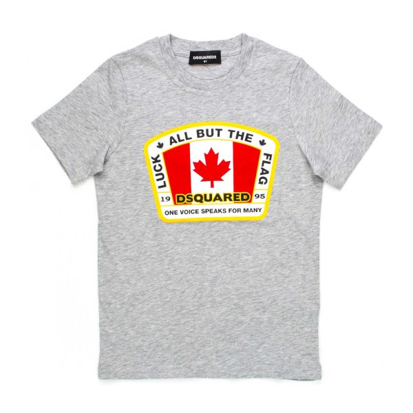 Dsquared2 - T-SHIRT BOY CANADA GRIGIA