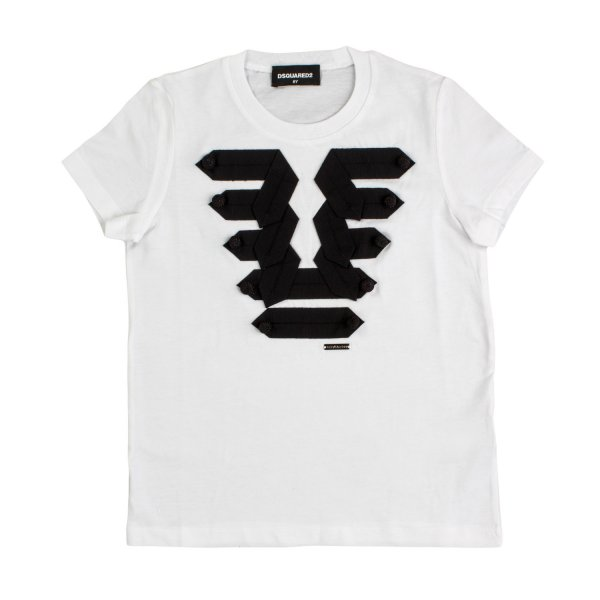 Dsquared2 - T-SHIRT GIRL BIANCA E NERA
