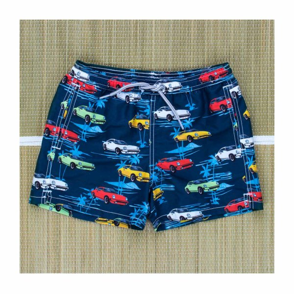 Mc2 Saint Barth - BOXER MARE JEAN CARS BLU BAMBINO TEEN