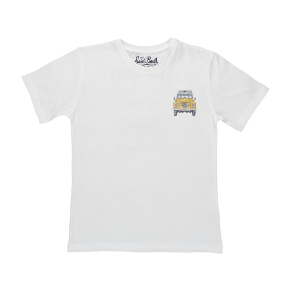 Mc2 Saint Barth - T-SHIRT JEEP BIANCA BAMBINO TEEN