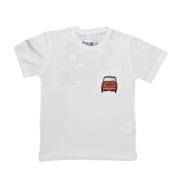Mc2 Saint Barth - T-SHIRT FIAT 500 BIANCA BAMBINO TEEN 02