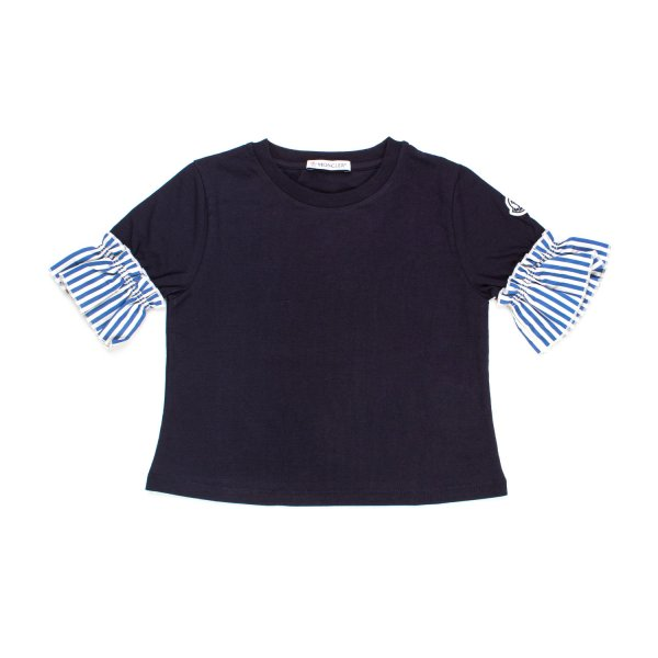 Moncler - TOP BLU NAVY BAMBINA TEEN