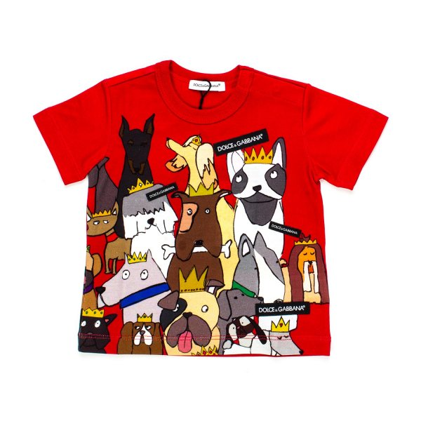 Dolce & Gabbana - T-SHIRT BEBè ROSSA CARTOON