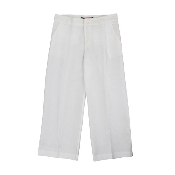 European Culture - PANTALONE BIANCO BAMBINA TEEN 03