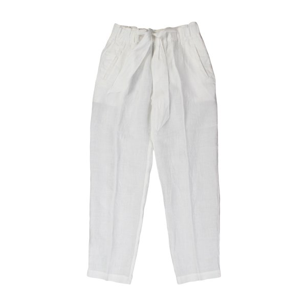 European Culture - PANTALONE LINO BIANCO BAMBINA TEEN