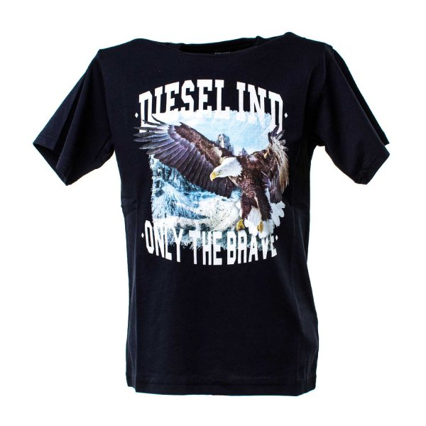 Diesel - T-SHIRT EAGLE BOY BLU