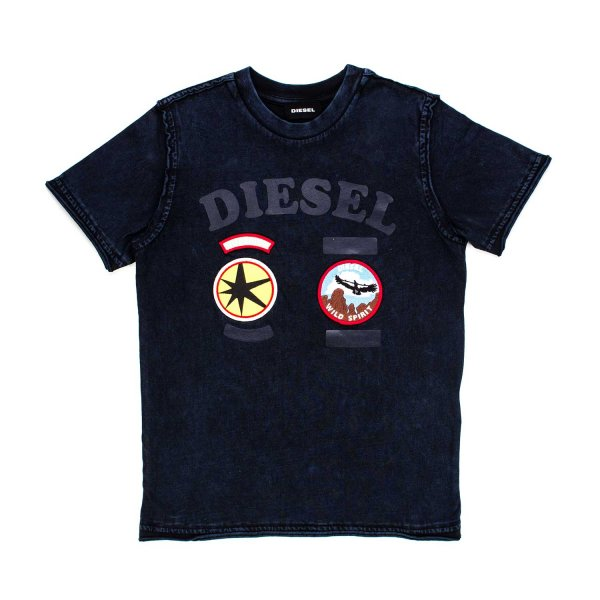 Diesel - T-SHIRT BOY BLU PATCH