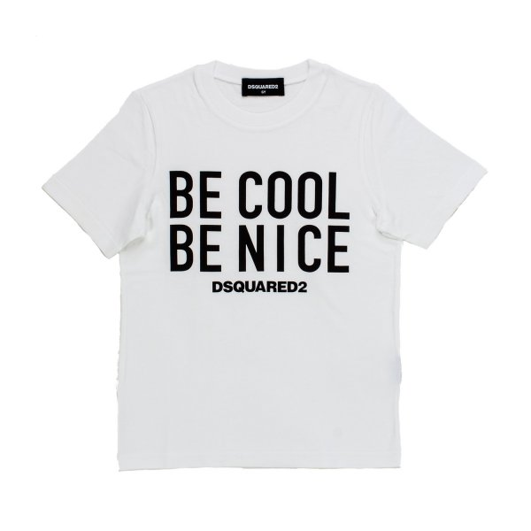 Dsquared2 - T-SHIRT BE COOL BIANCA E NERA