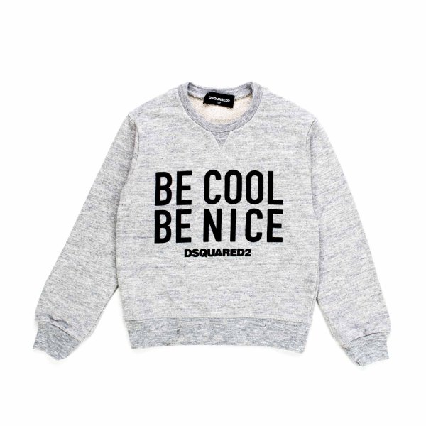 Dsquared2 - FELPA BE COOL GRIGIA E NERA
