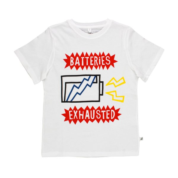 Stella Mccartney - T-SHIRT BATTERIES BIANCA BAMBINO