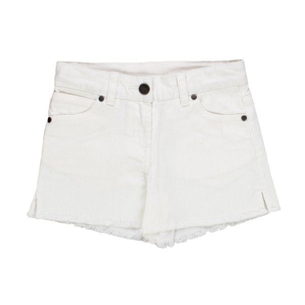 Stella Mccartney - SHORTS DENIM BIANCO BAMBINA TEEN