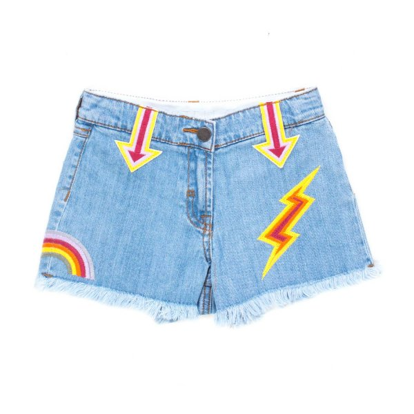 Stella Mccartney - SHORTS DENIM RICAMATI BAMBINA