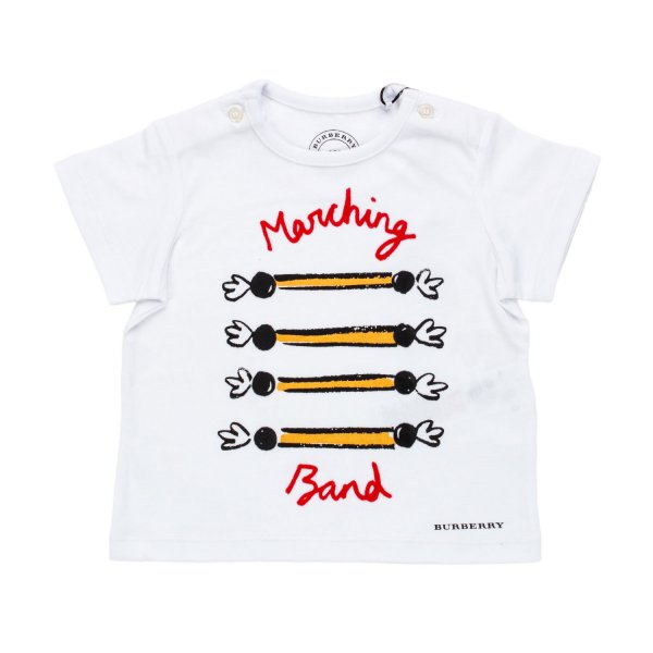 Burberry - T-SHIRT BABY MARCHING BAND BIANCA