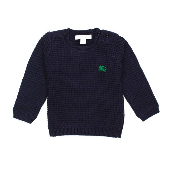 Burberry - PULLOVER BABY BLU NIDO D'APE