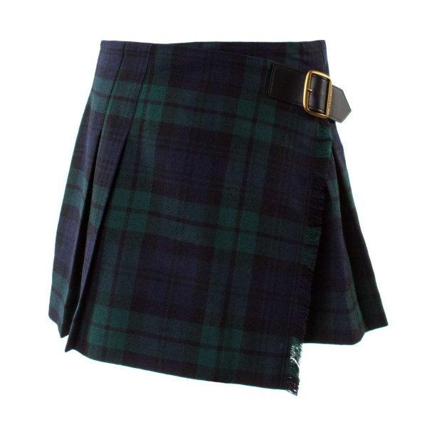 Burberry - GONNA GIRL TARTAN VERDE E BLU