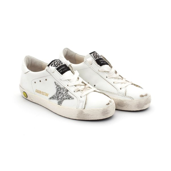 Golden Goose - Superstar Silver Glitter Star Jr