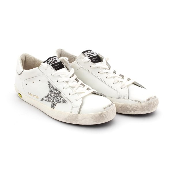 Golden Goose - Superstar Silver Glitter Star Teen