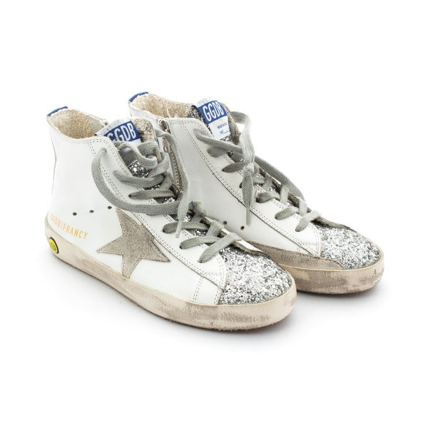Golden Goose - Francy Bianche Glitter Junior