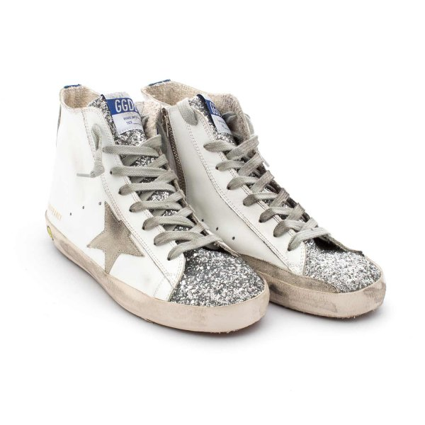 Golden Goose - Francy Bianche Glitter Teen
