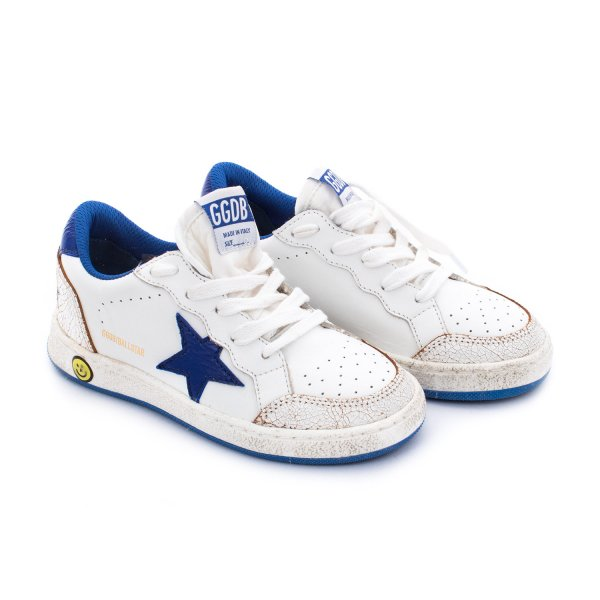 Golden Goose - SNEAKER BALL STAR JUNIOR BIANCA E BLU