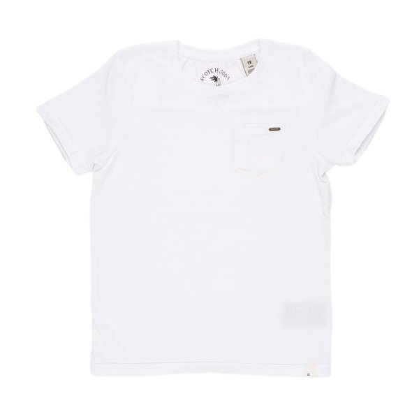 Scotch & Soda - T-SHIRT TOTAL WHITE BAMBINO TEEN