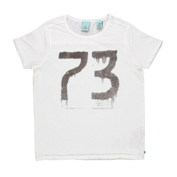 Scotch & Soda - T-SHIRT 73 BIANCA BAMBINO TEEN