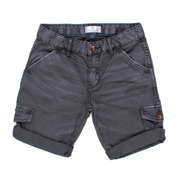 Scotch & Soda - BERMUDA CARGO ANTRACITE BAMBINO TEEN