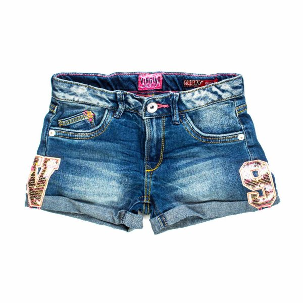 Vingino - SHORTS DENIM CON PATCH BAMBINA TEEN