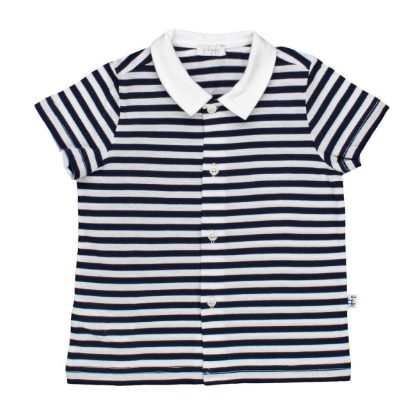 Striped polo shirt navy signed il gufo - annameglio.com