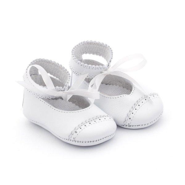 Ballerina in pelle bianca per bebè firmata Tartine et Chocolat  - annameglio.com shop online