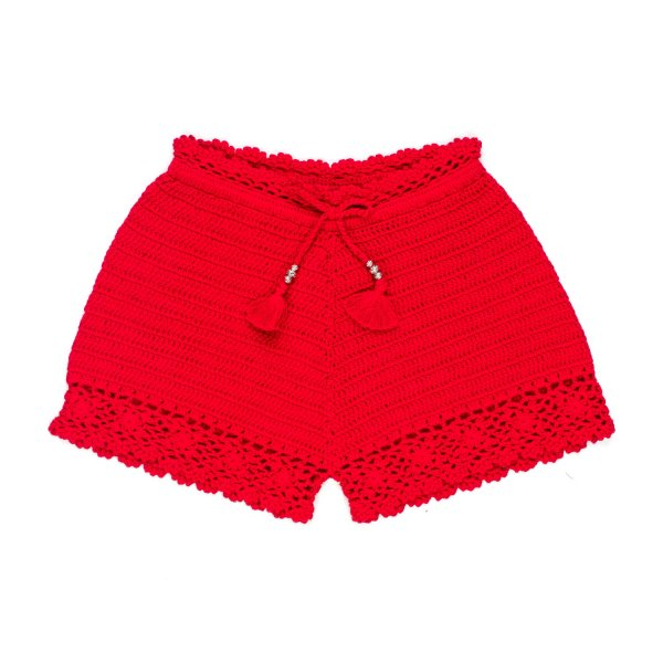 Ermanno Scervino - SHORTS ROSSI BAMBINA TEEN