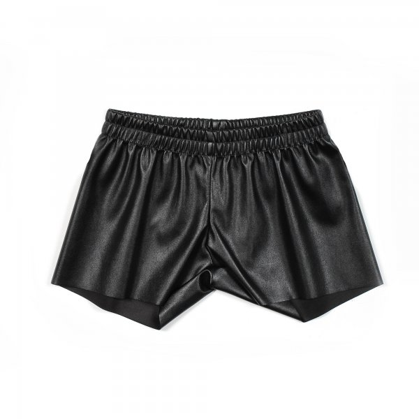 Piccolaludo - SHORTS NERO IN ECOPELLE