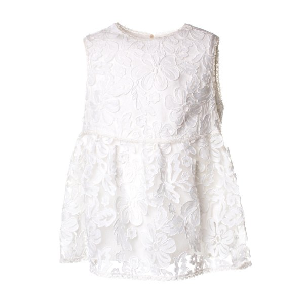 Ermanno Scervino - TOP PIZZO BIANCO BAMBINA TEEN